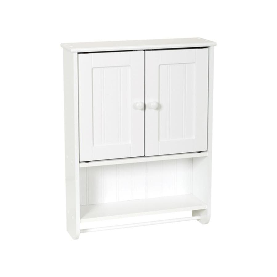 zenith bathroom wall cabinet shop zenith 19 19 in w x 25 63 in h x 5 75 in d white 29546