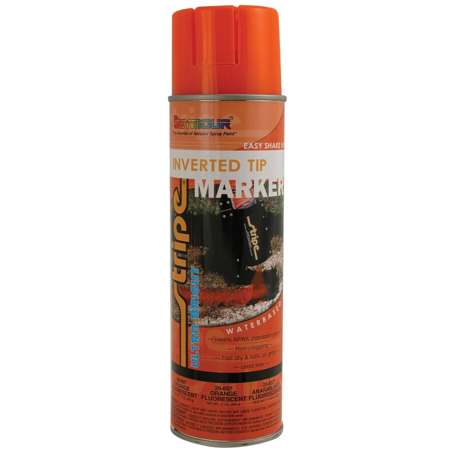 SEYMOUR Fluorescent Orange Indoor/Outdoor Spray Paint