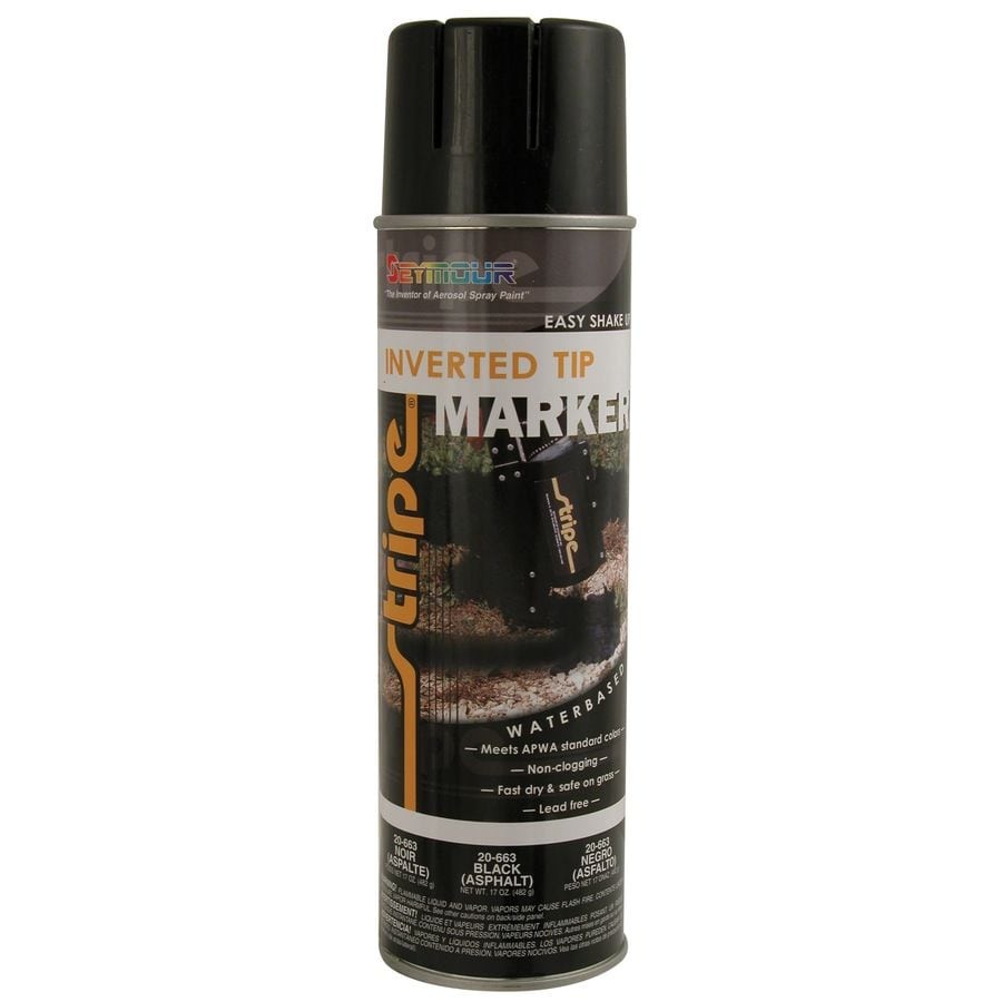 Shop Seymour Asphalt Black Indoor Outdoor Spray Paint At