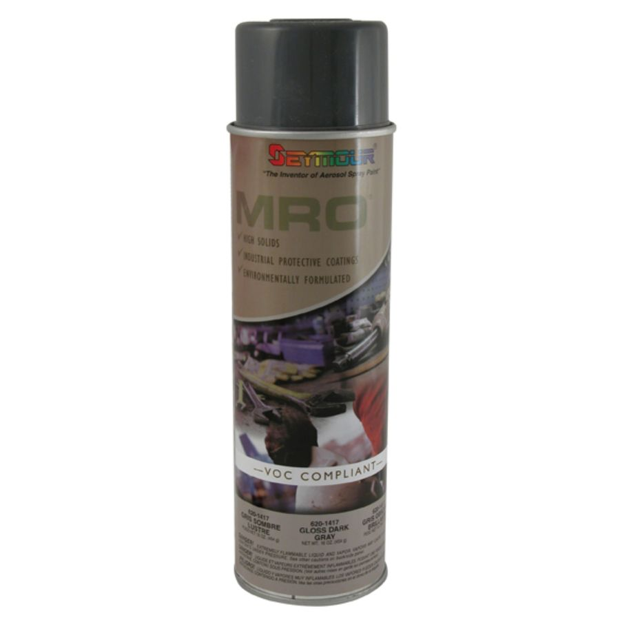 SEYMOUR Dark Gloss Gray Indoor/Outdoor Spray Paint
