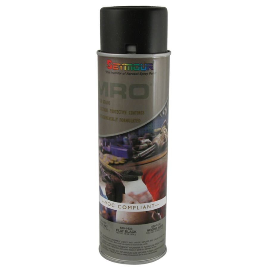 Shop seymour flat black indoor outdoor spray paint actual net contents oz at Black spray paint