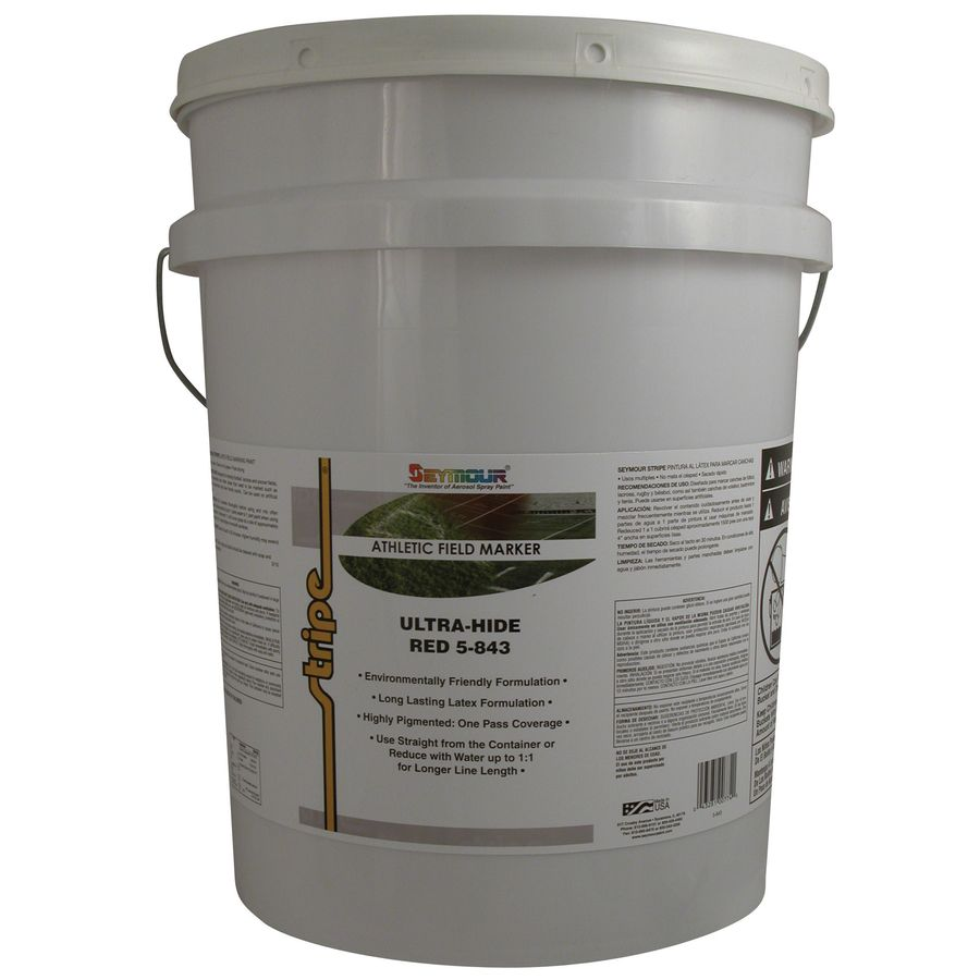 SEYMOUR Red Water-Based Marking Paint (Actual Net Contents: 640-fl oz)
