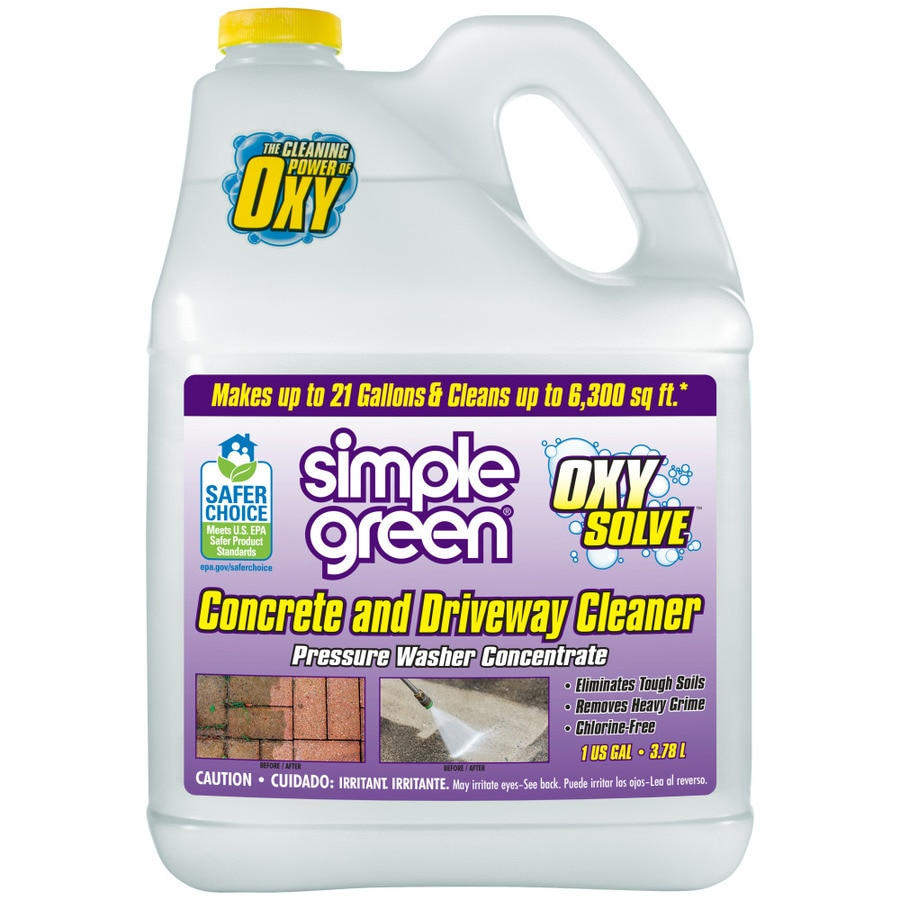 Shop simple green 1 gallon concrete pressure washer for Organic concrete cleaner