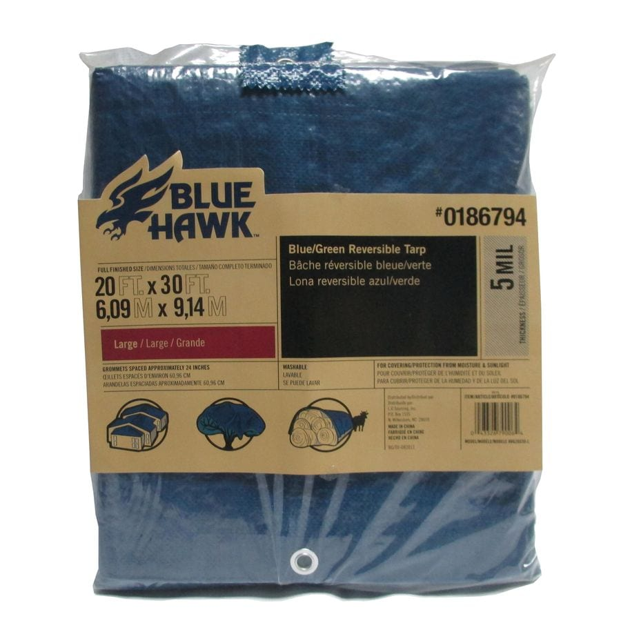 Blue Hawk 20 Ft X 30 Ft Polyethylene Tarp At Lowes Com