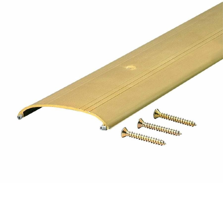 M-D 36-1/8-in L x 3-1/2-in W Brite Gold Aluminum Door Threshold