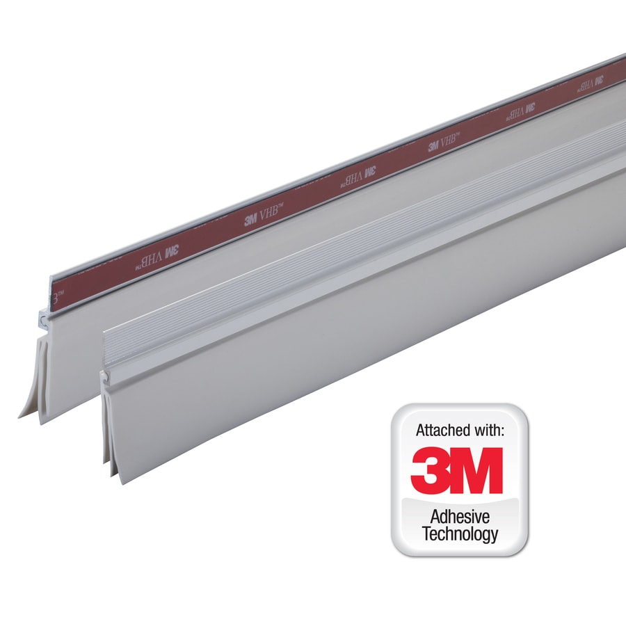 M D 3 Ft X 2 3 4 In White Cinch Door Sweep Aluminum Vinyl
