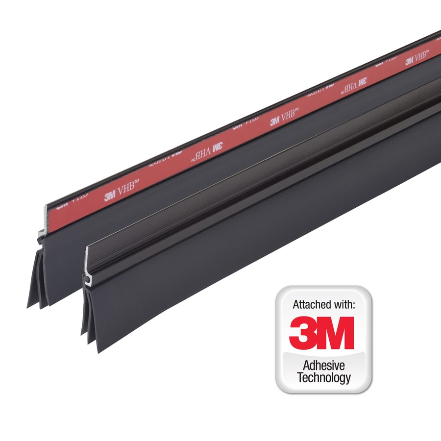 M-D 3-ft Brown Aluminum Vinyl Door Weatherstrip