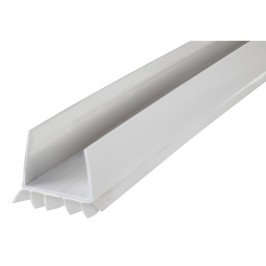 M-D 3-ft White Aluminum Vinyl Door Weatherstrip