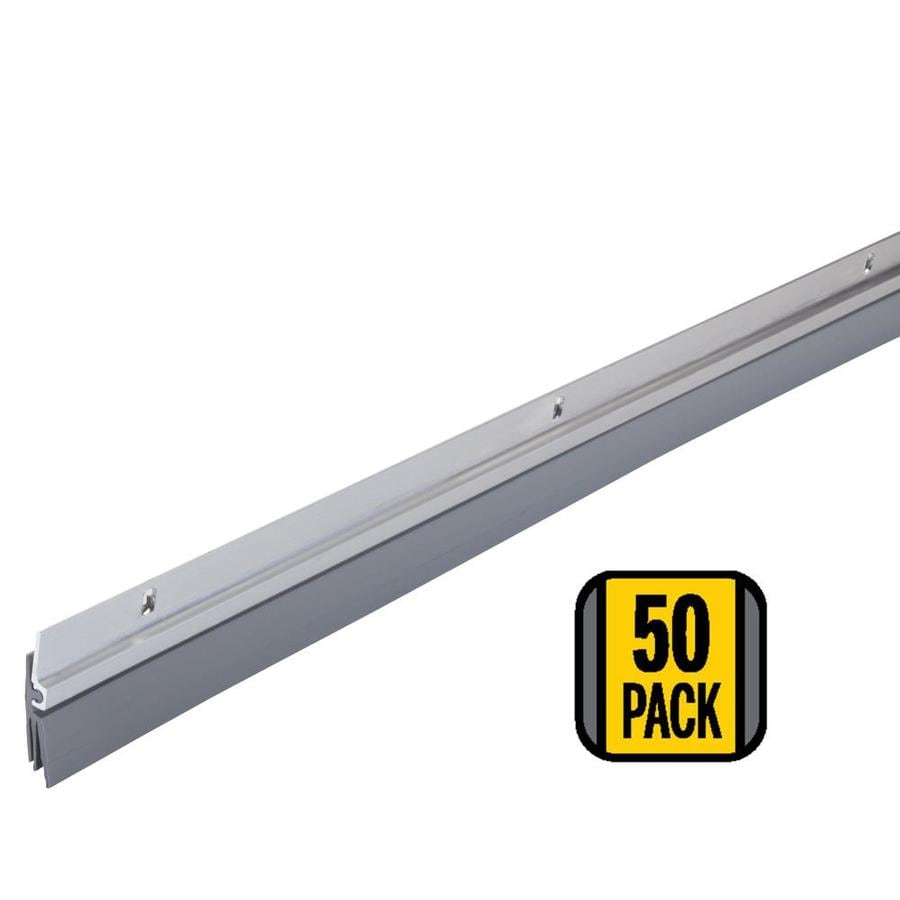 M-D 50-Pack 3-ft Silver Sweep Aluminum Vinyl Door Weatherstrip