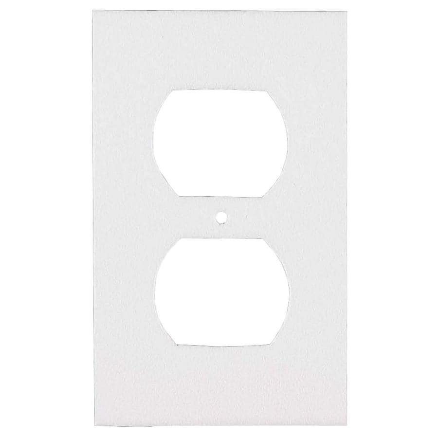 M-D 0.416-ft White Foam Outlet Switch Weatherstrip