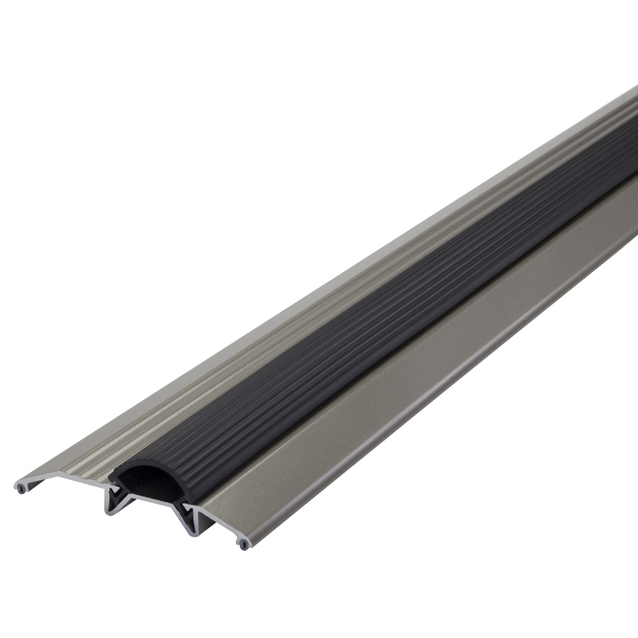 M-D 0.75-in x 36-in Satin Nickel Aluminum Door Threshold