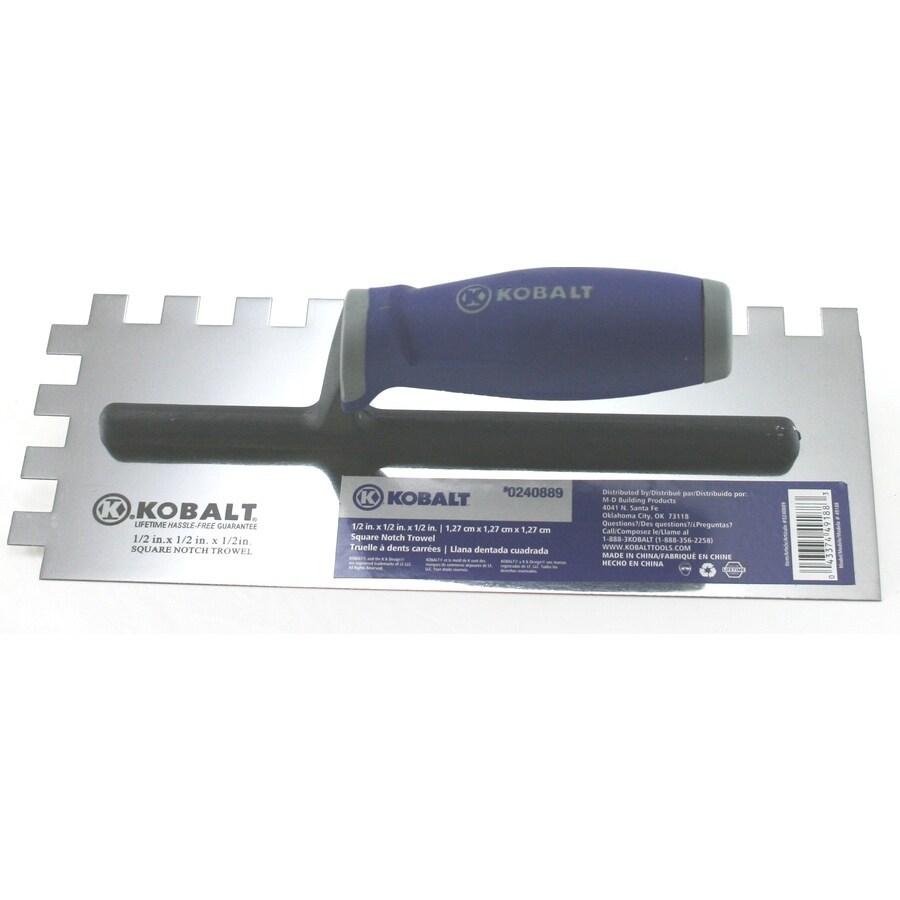 Kobalt 11-in Stainless Steel Square Notch Ceramic Floor Trowel