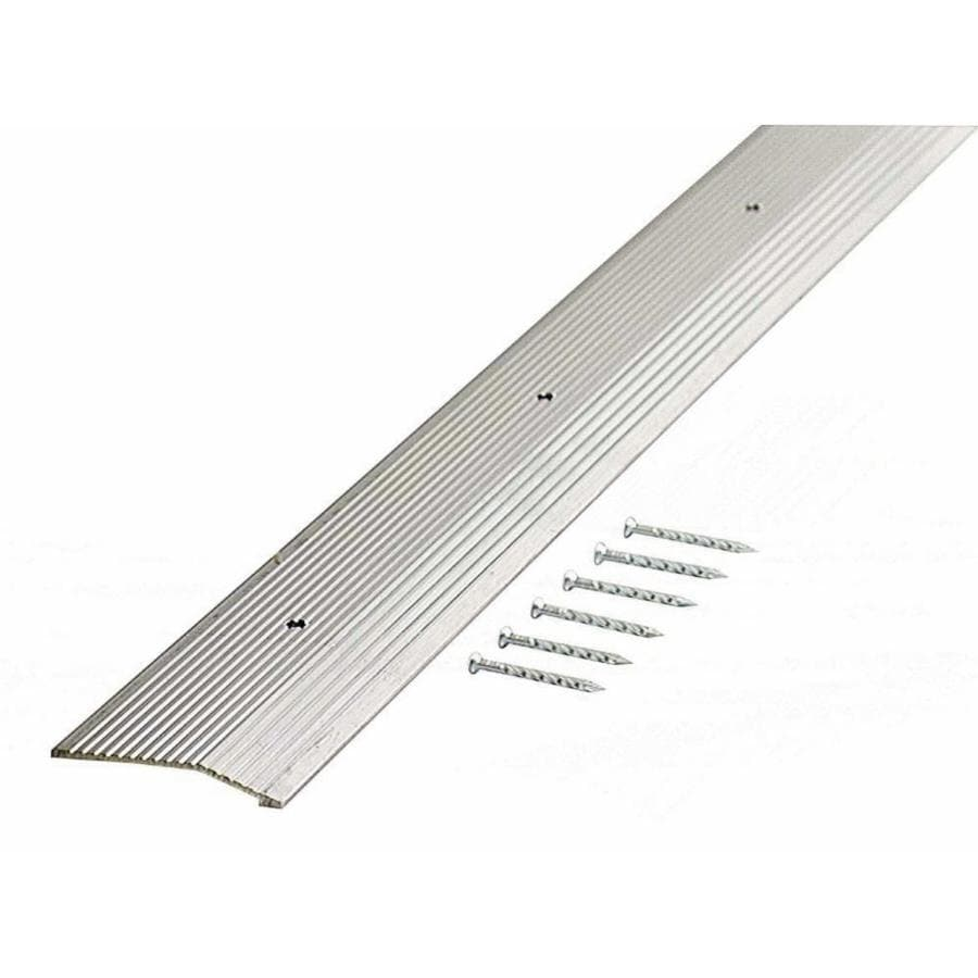 M-D 2-in x 72-in Fluted Silver Carpet Trim