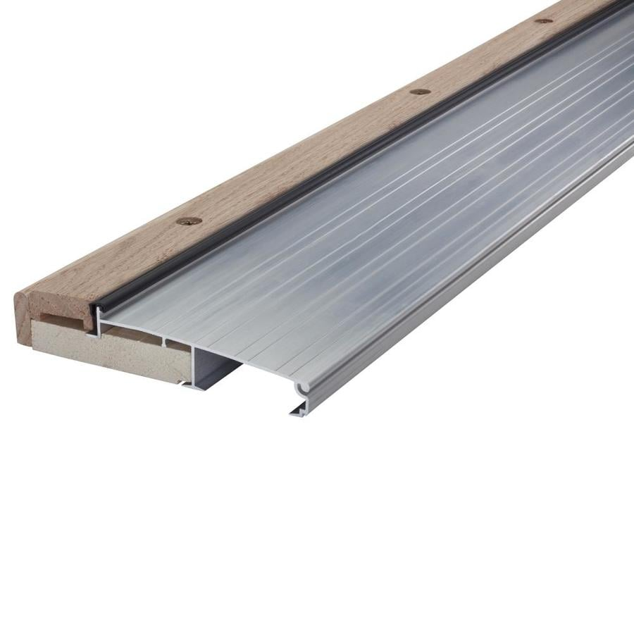 Shop door thresholds at lowes m d 1125 in x 36 in aluminum aluminumwood door threshold rubansaba