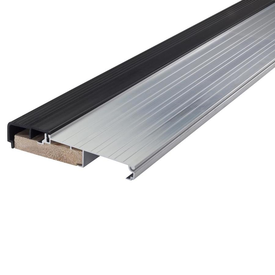 shop m d x 36 in aluminum and wood door threshold