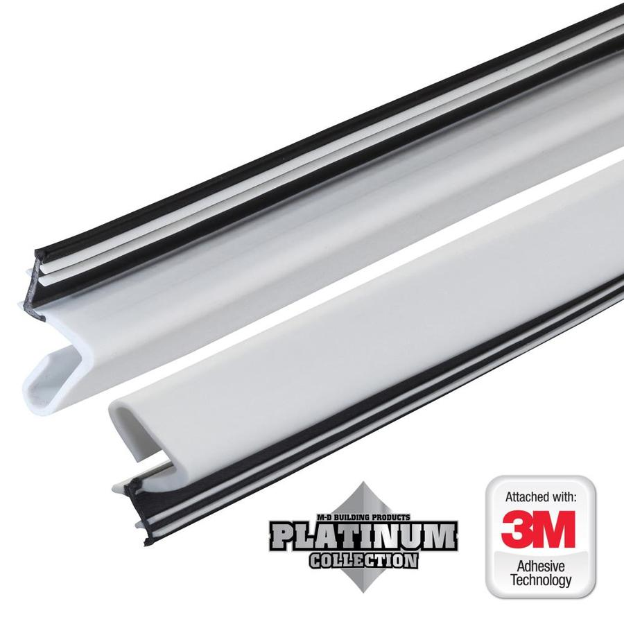 Shop M D 7 Ft White Rubber Door Weatherstrip At Lowes Com