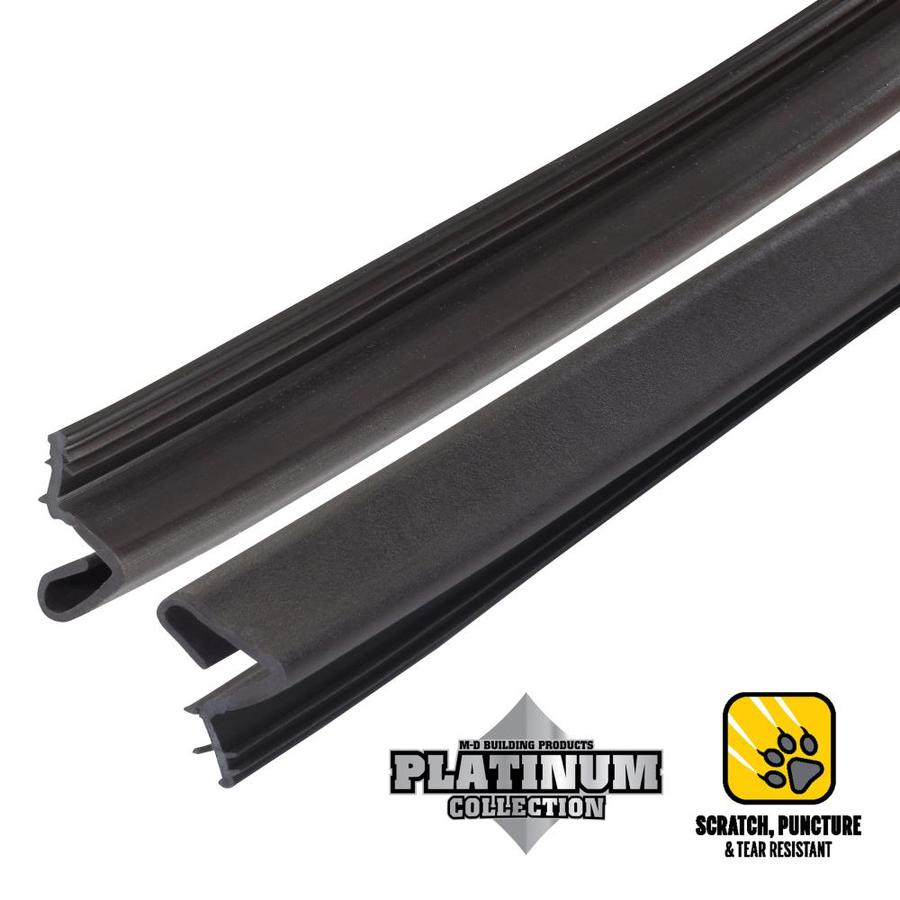 M-D 7-ft Brown Rubber Door Weatherstrip