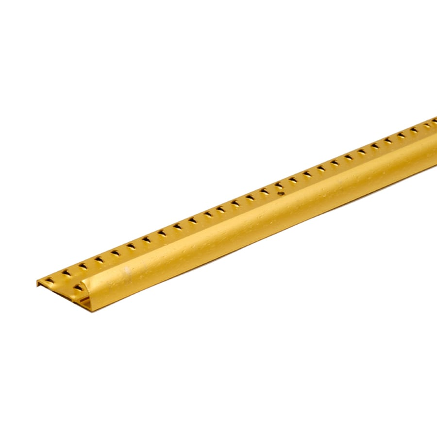M-D Building Products 96-in Brass Hammered Carpet Gripper