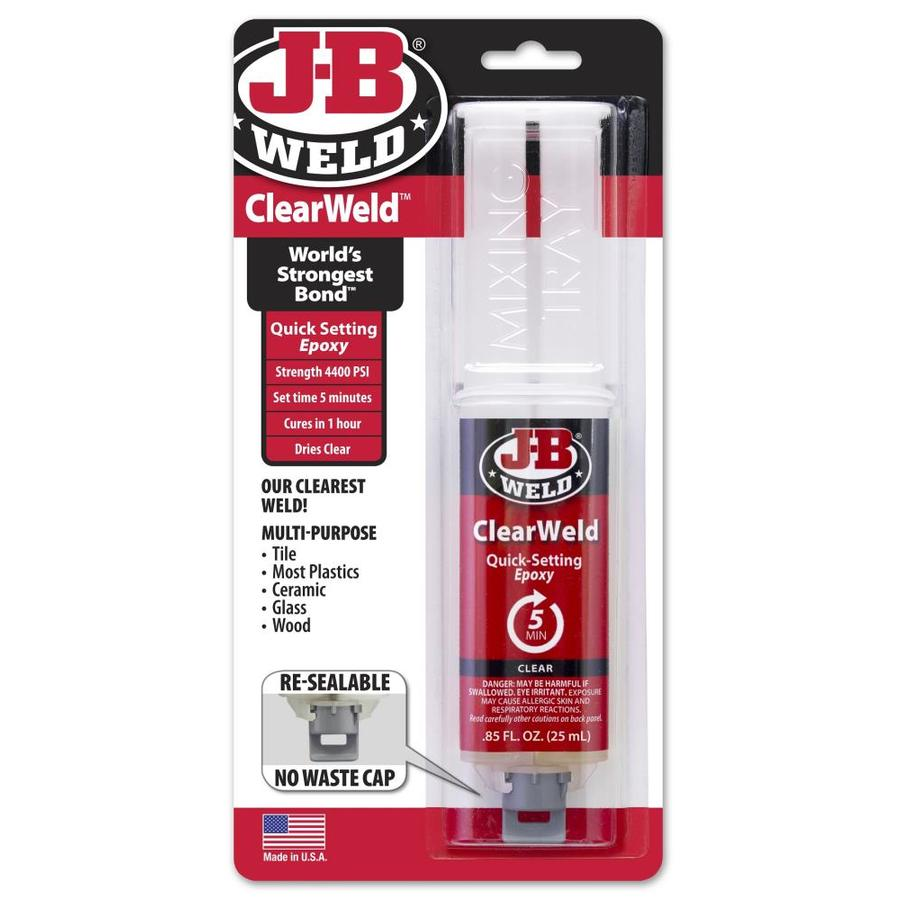j b weld clearweld clear epoxy adhesive at lowes com