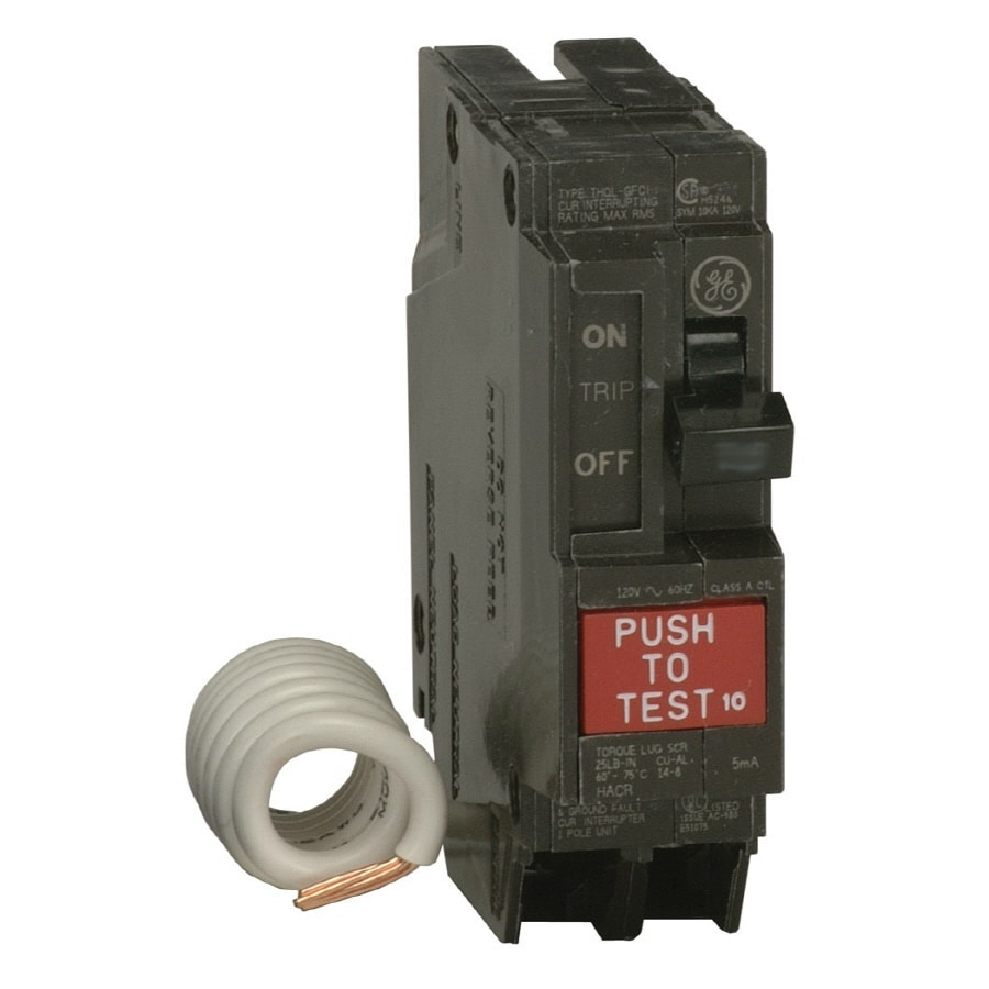 Shop GE Q-Line THQL 20-Amp 1-Pole Ground Fault Circuit Breaker at ...