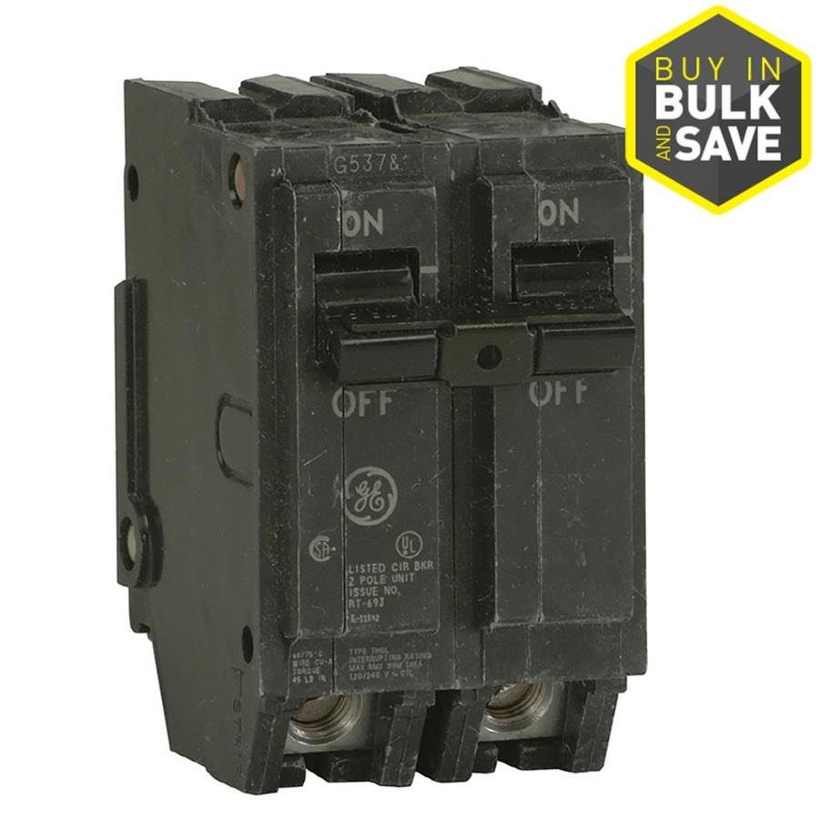 GE Q-Line THQL 100-Amp 2-Pole Double-Pole Circuit Breaker