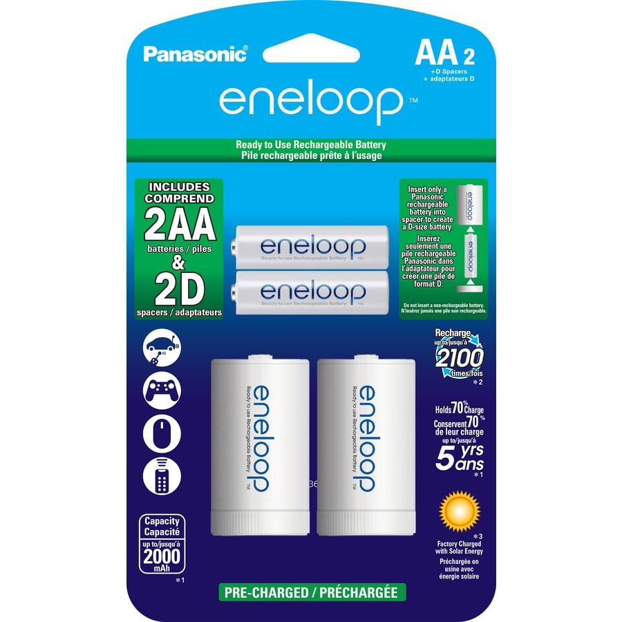 Shop Panasonic 2 Pack AA Rechargeable Batteries At Lowes