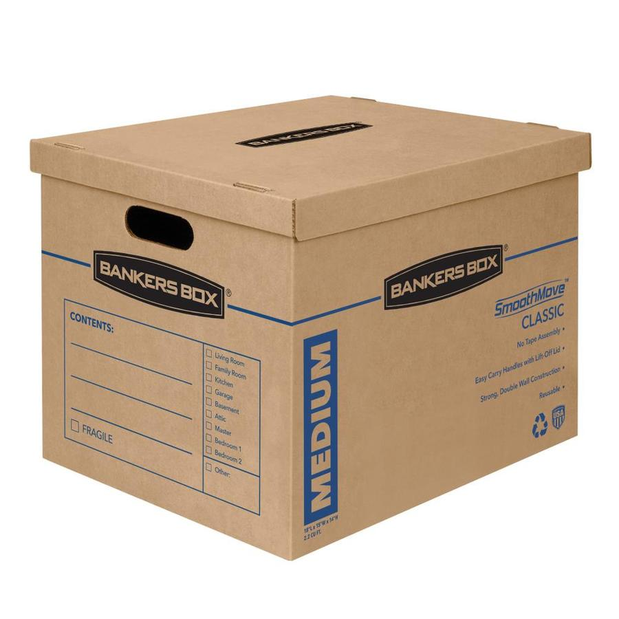 BANKERS BOX Classic 8-Pack Medium Recycled Cardboard Moving Boxes (Actual 15.5-in x 14.5-in)
