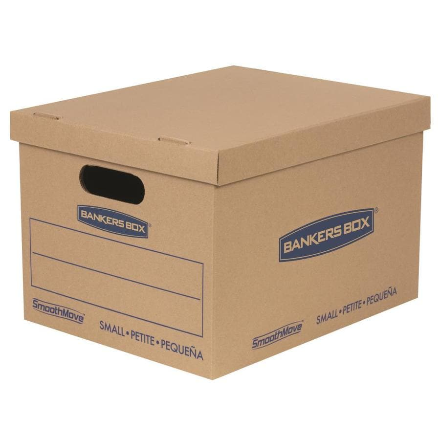 BANKERS BOX Classic 5-Pack Small Recycled Cardboard Moving Boxes (Actual 12-in x 10-in)