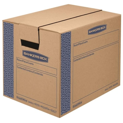 BANKERS BOX SmoothMove 10-Pack Small Cardboard Moving Box