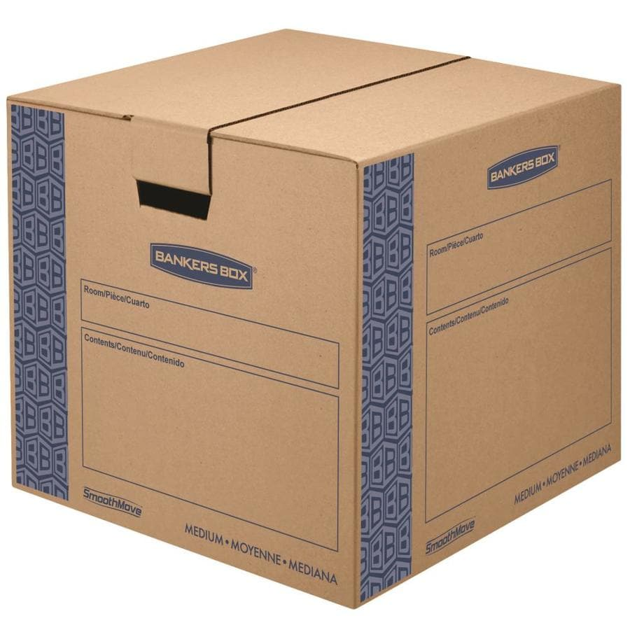 BANKERS BOX 8-Pack Medium Cardboard Moving Box Kit (Actual 18.13-in x 16.63-in)