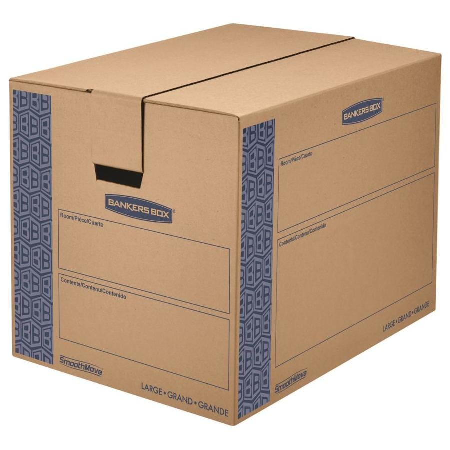 BANKERS BOX Prime 6-Pack Large Cardboard Moving Boxes (Actual 18.25-in x 19-in)