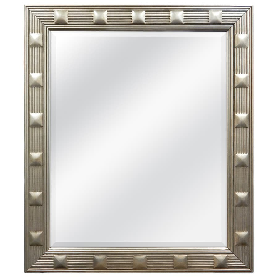 allen + roth Champagne Beveled Wall Mirror