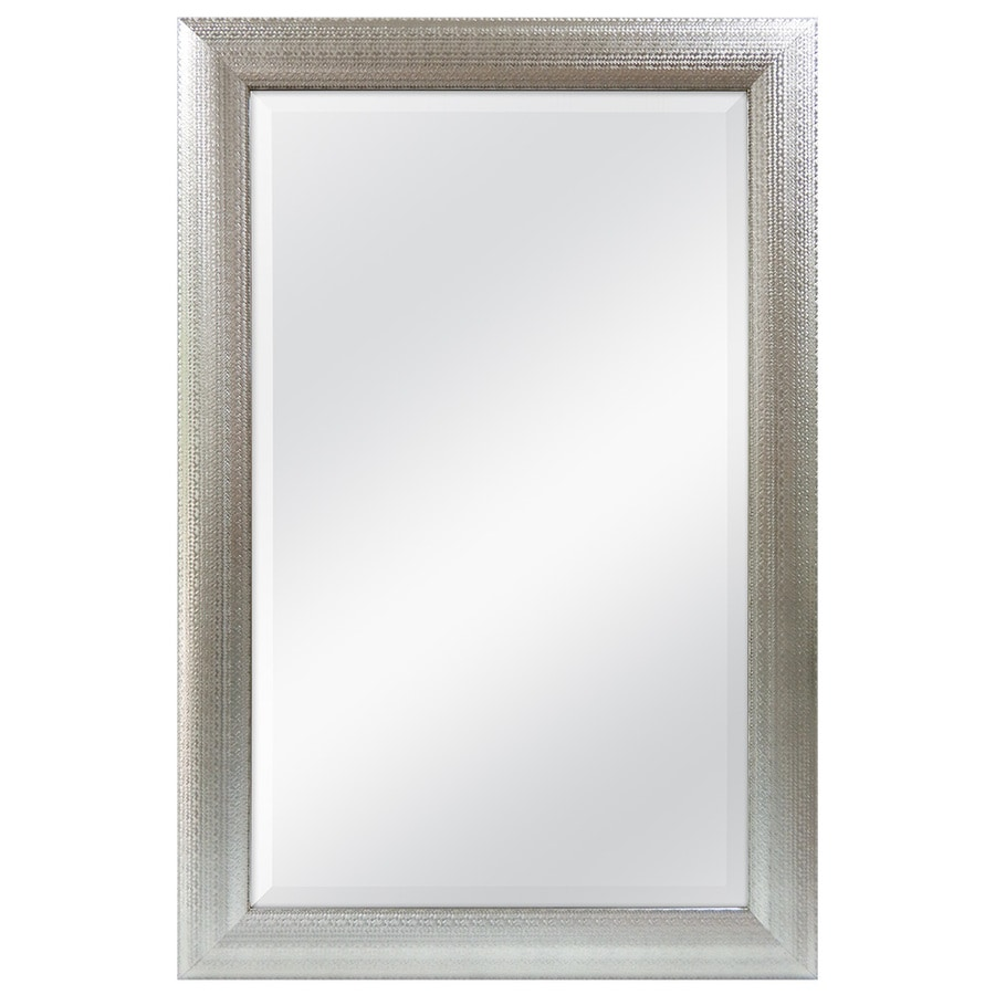 Shop allen roth silver beveled wall mirror at lowes allen roth silver beveled wall mirror amipublicfo Gallery