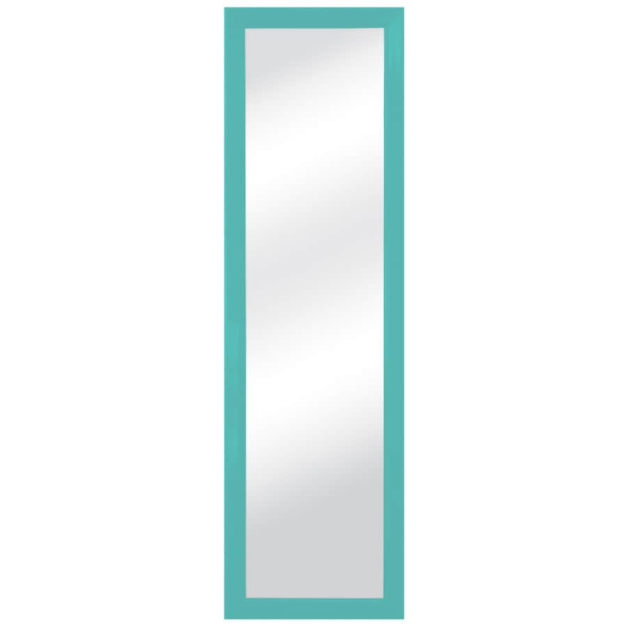 Style Selections 15-in x 51-in Mint Polished Rectangle Framed Traditional Wall Mirror