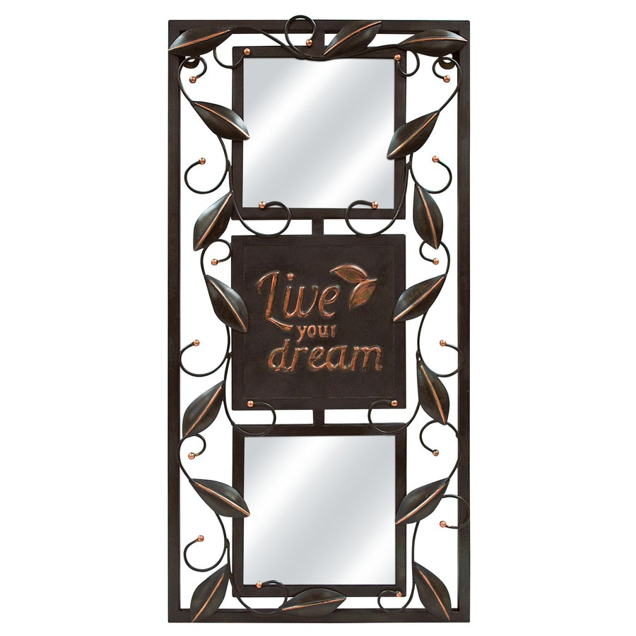 MCS Industries Oil Rubbed Bronze Rectangle Framed Wall Mirror