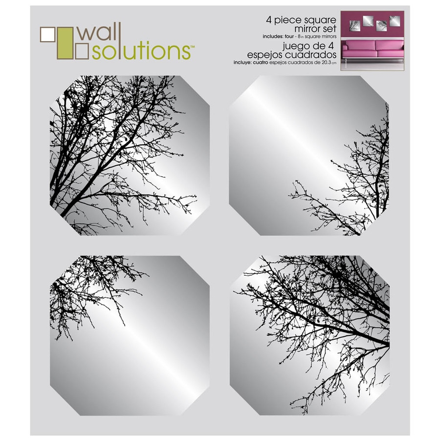 MCS Industries Polished Square Frameless Wall Mirror