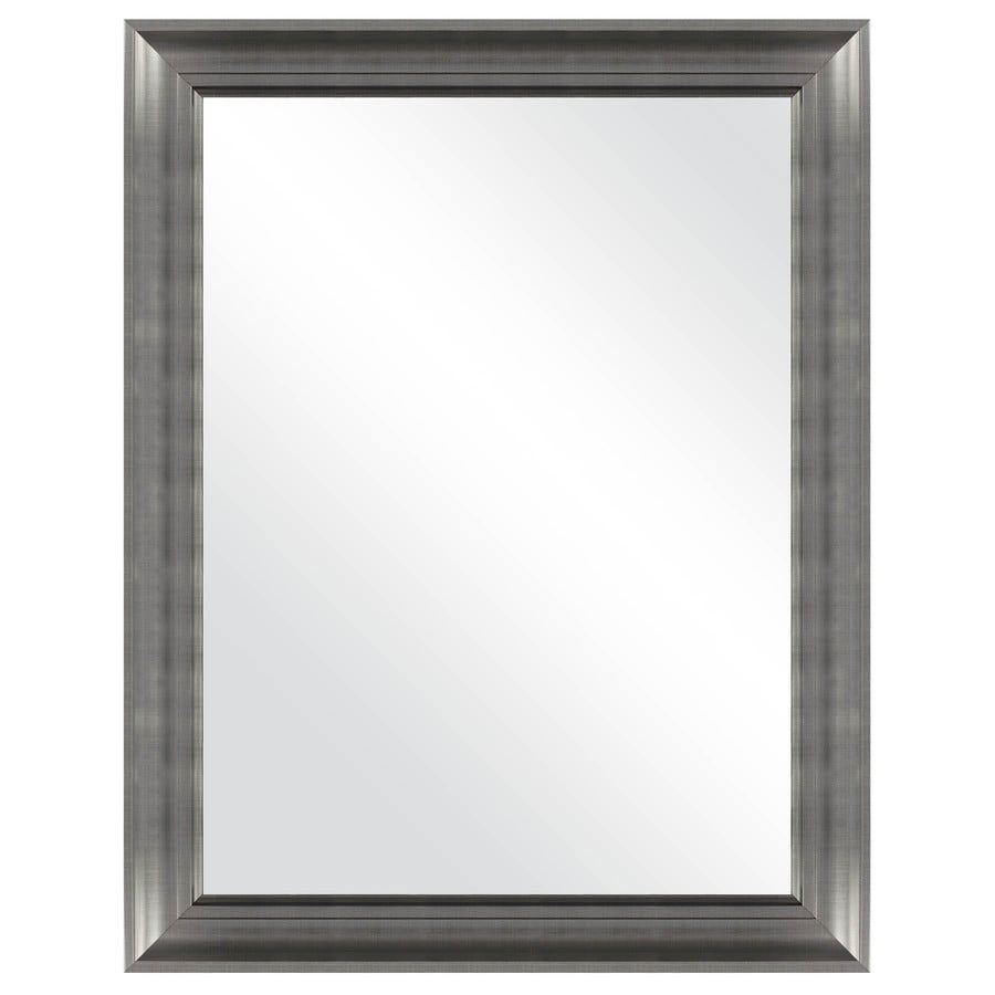 MCS Industries Brushed Nickel Rectangle Framed Wall Mirror