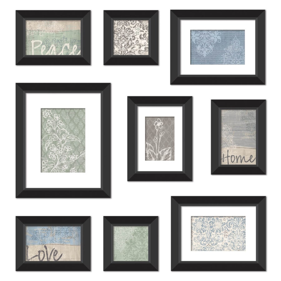 Shop MCS Industries 9-Pack At Home Style Black Picture Frames ...