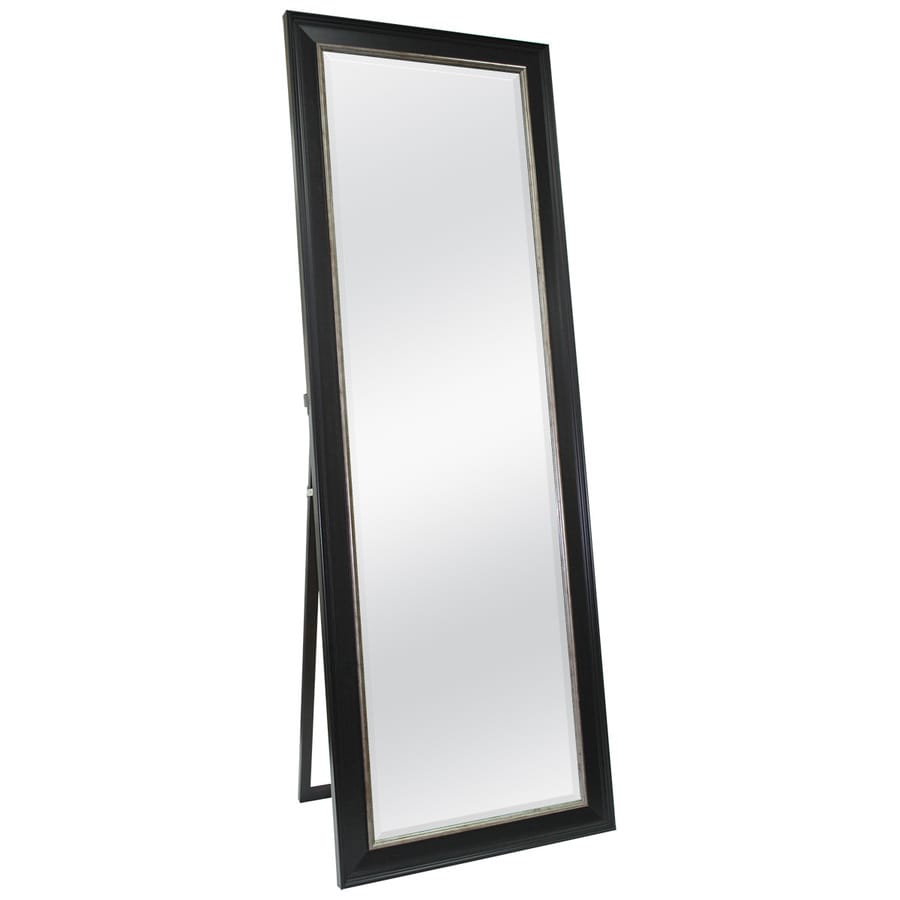 Style Selections 23.5-in x 67-in Espresso with Champagne Accents Beveled Rectangle Framed French Floor Mirror