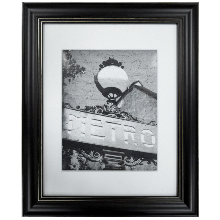 Shop Black Picture Frame (Common: 11-in x 14-in; Actual: 14.25-in x ...