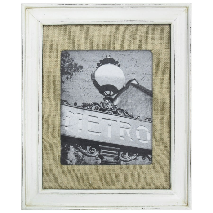 Shop Distressed White Picture Frame (Common: 11-in x 14-in; Actual ...