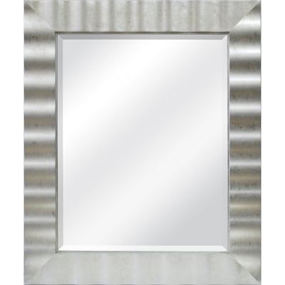 36 In L X 30 W Silver Leaf Beveled Wall Mirror