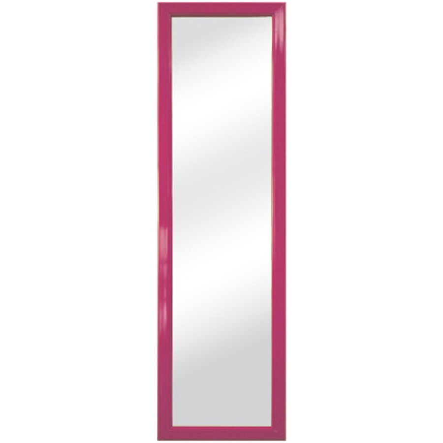 Pink Wall Mirror shop style selections pink rectangle framed wall mirror at lowes