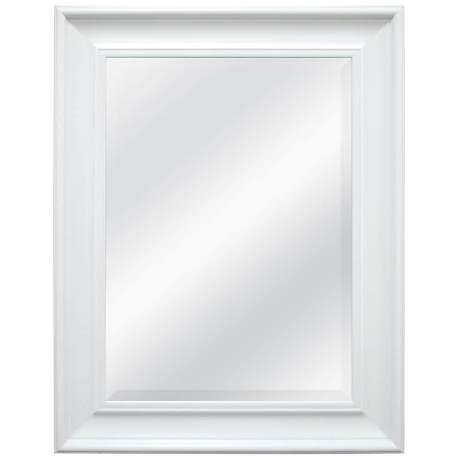 style selections white beveled wall mirror at lowes