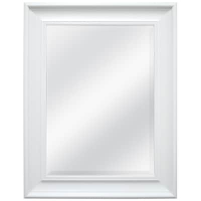 L X W White Beveled Wall Mirror