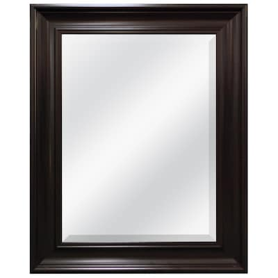 L X W Espresso Beveled Wall Mirror