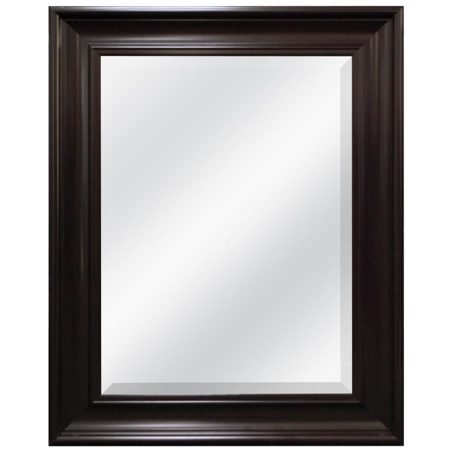 Style Selections 21.5-in x 27.5-in Espresso Beveled Rectangle Framed French Wall Mirror