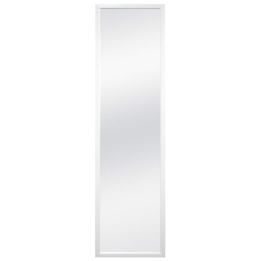 MCS Industries 13.5-in x 49.5-in White Polished Rectangle Framed French Wall Mirror
