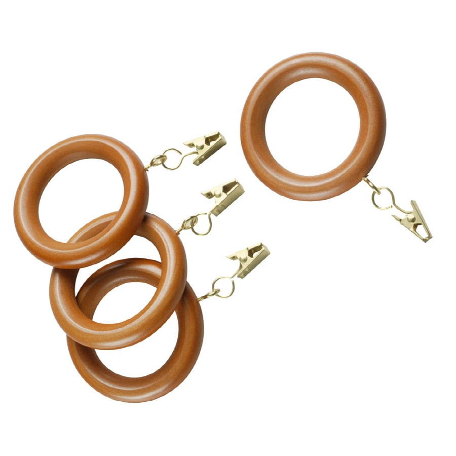 Style Selections 7-Pack Oak Wood Curtain Rings