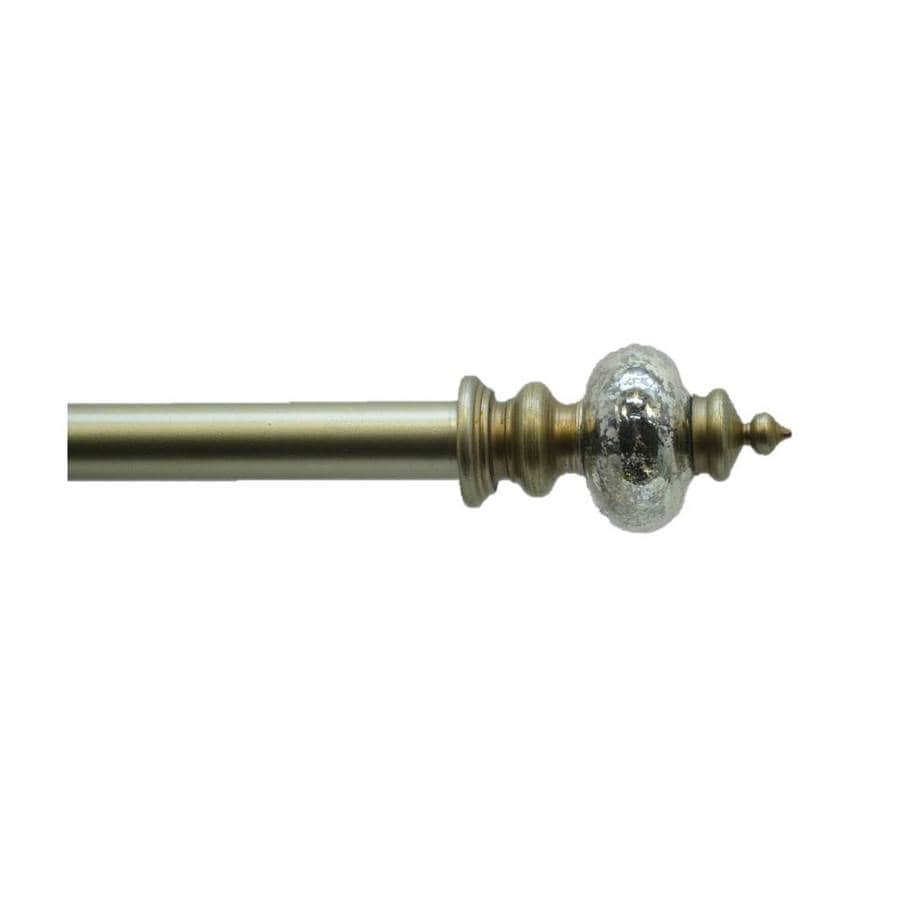 Style Selections 28-in to 48-in Gold Single Curtain Rod